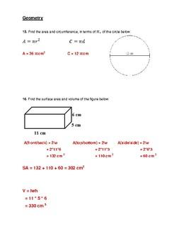7th Grade Math Final Exam Prep