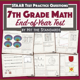 7th Grade Math Final Test/ End of Year Review/ STAAR Pract