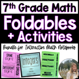 7th Grade Math Foldables and Activity Bundle for Interactive Notebooks