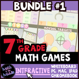 7th Grade Math Games - Interactive Games BUNDLE #1
