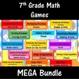 7th Grade Math Games MEGA Bundle