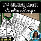7th Grade Math Geometry Anchor Strips