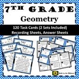 7th Grade Math Geometry Task Cards Bundle