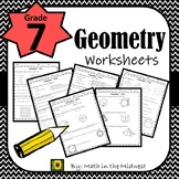 7th Grade Math Geometry Worksheets