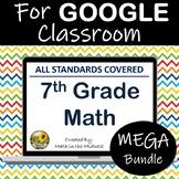 7th Grade Math Digital Google Classroom Bundle ⭐ Distance