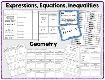 7th Grade Math - BUNDLE - Notes, Activities, Worksheets, and Assessments