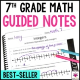 7th Grade Math Guided Notes Bundle Common Core Aligned