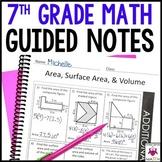 7th Grade Math Guided Notes - 7th Grade Math Notes