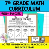7th Grade Math Guided Notes and Activities