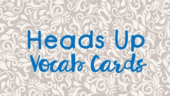 7th Grade Math Heads Up Vocabulary Cards