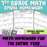7th Grade Math Homework