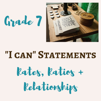 "7th Grade Math ""I Can"" Statement POSTERS"