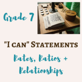 """7th Grade Math """"I Can"""" Statement POSTERS"""
