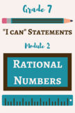 """7th Grade Math """"I Can"""" POSTERS - Rational Numbers"""