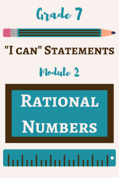 "7th Grade Math ""I Can"" POSTERS - Rational Numbers"