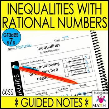 Solving Inequalities Notes and Activities Bundle