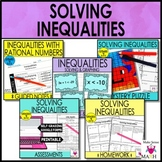Solving Inequalities Notes and Activities Unit Bundle