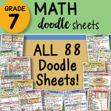 7th Grade Math Interactive Notebook DOODLE SHEETS ~ with P