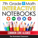 7th Grade Math Interactive Notebooks Guided Notes Growing Bundle