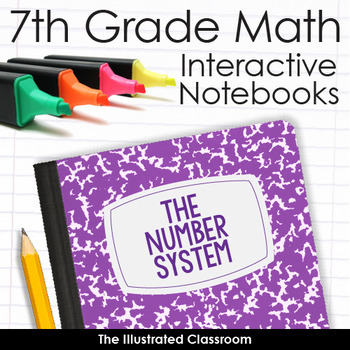 7th Grade Math Interactive Notebooks for the Number System