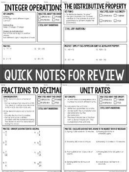 7th Grade Math Intervention Binder