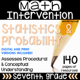 7th Grade Math Intervention Pack Statistics and Probability RTI Math Resources