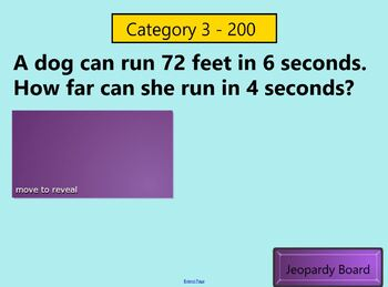 7th Grade Math Jeopardy Review