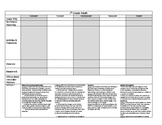 EDITABLE 7th Grade Math Lesson Plan Template with MAFS (common core) standards