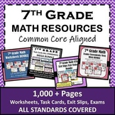 ⭐7th Grade Math Curriculum Resources Bundle⭐