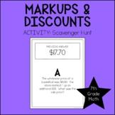 Markup & Discount Activity | 7th Grade Math