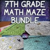 7th Grade Math Maze Bundle