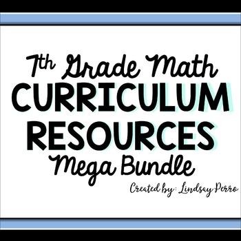 7th Grade Math Curriculum Resources Mega Bundle