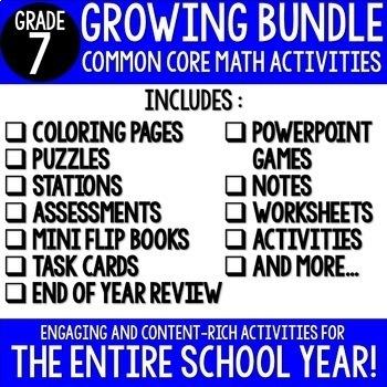 7th Grade Math Common Core Bundle {A Growing Bundle}
