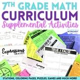 7th Grade Math Activities Bundle : Supplemental Curriculum