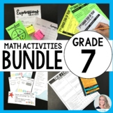 7th Grade Math Activities Bundle : Supplemental Curriculum