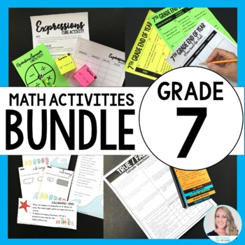 7th Grade Math Curriculum Resources Bundle : A Year of Supplemental Activities