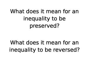 7th Grade Math Module 3 Topic B Inequalities Essential Questions and Vocabulary
