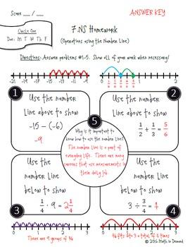 7th Grade Math Number Sense Homework (7.NS)