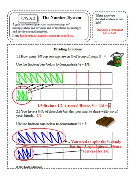 7th Grade Math Number Sense Interactive Notebook