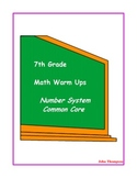 7th Grade Math Number System
