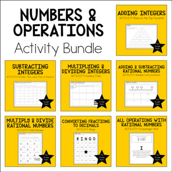 7th Grade Math Numbers & Operations Activity Bundle