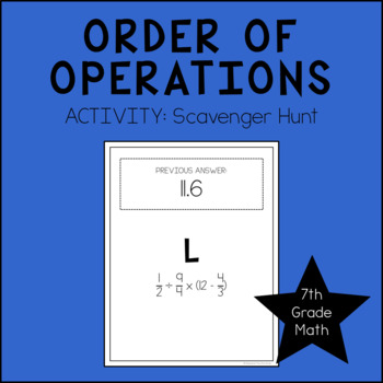 7th Grade Math Order of Operations