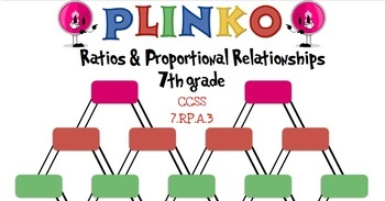 7th Grade Math PLINKO - Ratios & Proportional Relationships