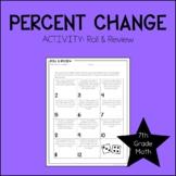 7th Grade Math Percent of Change Activity