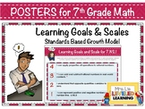 7th Grade Math Posters with Learning Goals & Scales (RP1-3