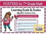 7th Grade Math Posters with Learning Goals and Scales - Al