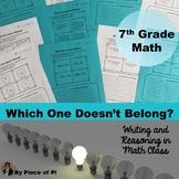 7th Grade Math Pre Algebra Writing Activities