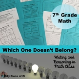 7th Grade Math Pre Algebra Writing Activities {Vol 1}