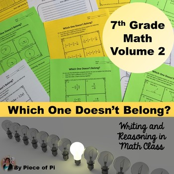 7th Grade Math Pre Algebra Writing Activities {Vol 2}