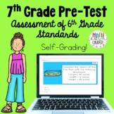 7th Grade Math Pre-Test for Beginning of Year - Digital Google Form